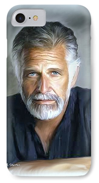 One Of The World's Most Interesting Man - In Oil Phone Case by Angela A Stanton