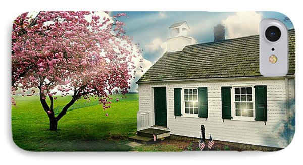 The Little Old Schoolhouse IPhone Case by Diana Angstadt