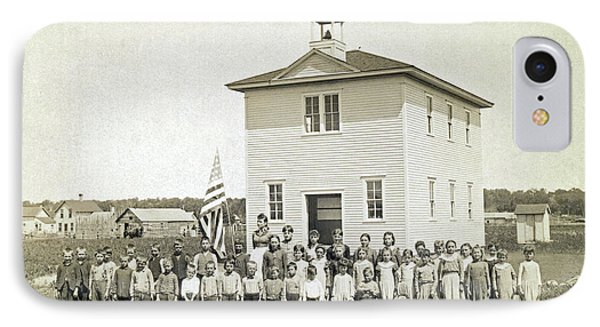 One Room Schoolhouse IPhone Case by Underwood Archives
