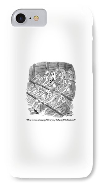 One Rower To Another On A Slave Ship IPhone Case by Peter Steiner