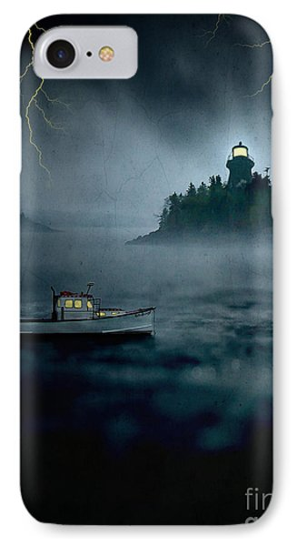 One Stormy Night In Maine IPhone Case by Edward Fielding