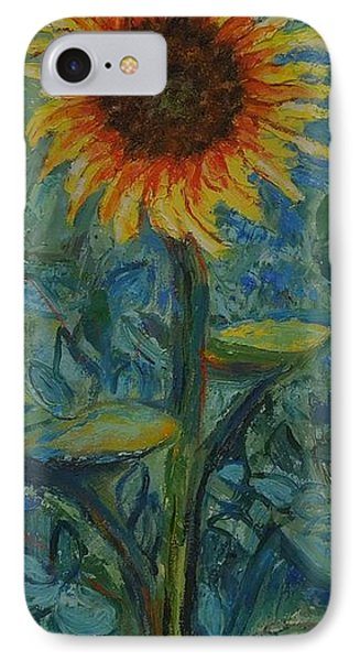 One Sunflower - Sold IPhone Case by Judith Espinoza