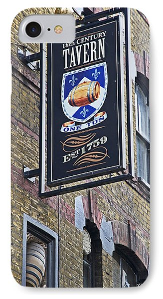 One Tun Tavern IPhone Case by Cheri Randolph