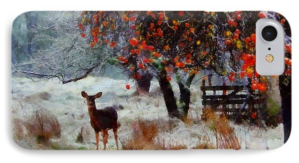 IPhone Case featuring the digital art One Winter Morning by Kai Saarto