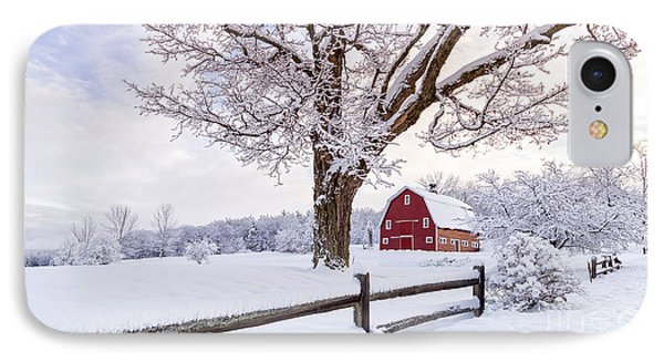One Winter Morning On The Farm IPhone Case by Edward Fielding