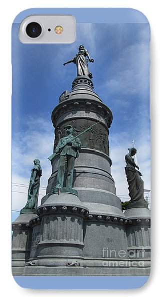 Oneida Square Civil War Monument IPhone Case by Peter Gumaer Ogden