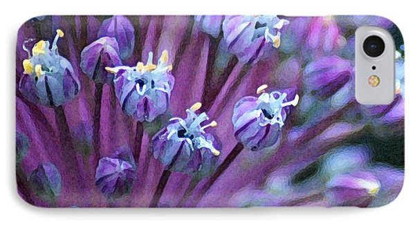 IPhone Case featuring the photograph Onion Bloom by Kjirsten Collier