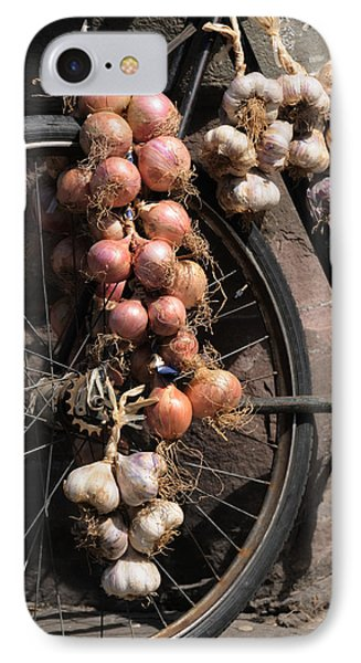 Onions And Garlic On Bike  IPhone Case by Jeremy Voisey