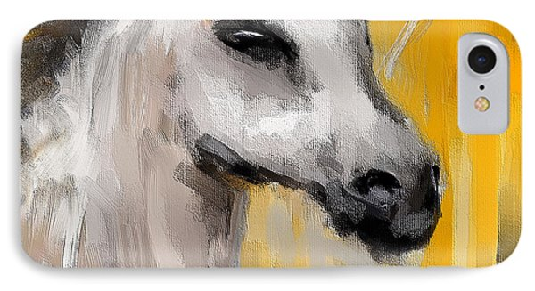 Only In His Eyes- Yellow And Gray Abstract Art IPhone Case by Lourry Legarde