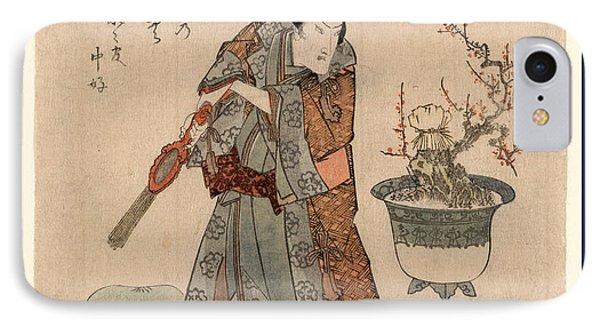 Onoe Kikugoro To Umebachi IPhone Case by Kuniyasu, Utagawa (1794-1832), Japanese