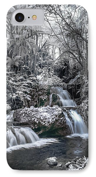 Onomea Falls In Infrared 2 IPhone Case