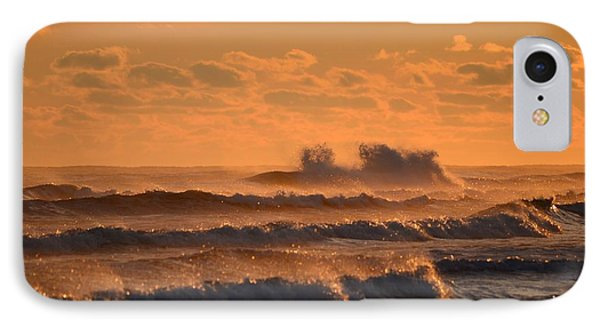 IPhone Case featuring the photograph Opal Beach Sunset Colors With Huge Waves by Jeff at JSJ Photography