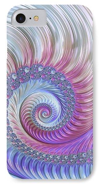 IPhone Case featuring the digital art Opal Nautilus by Susan Maxwell Schmidt