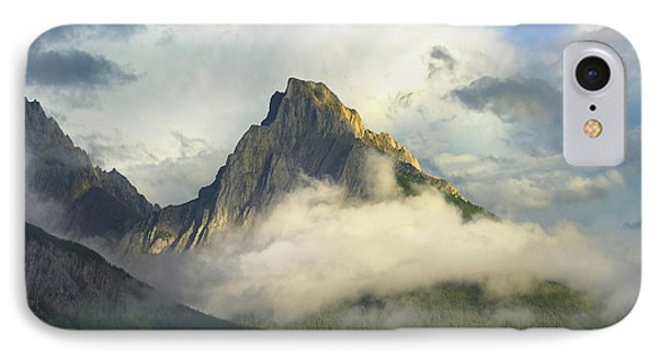 Opal Range In Fog Kananaskis Country IPhone Case by Tim Fitzharris