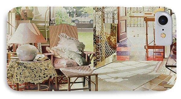 Open Door, 1987 Oil On Canvas IPhone Case by Jeremy Annett
