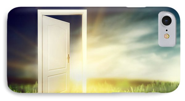 Open Door On The Green Field Phone Case by Michal Bednarek