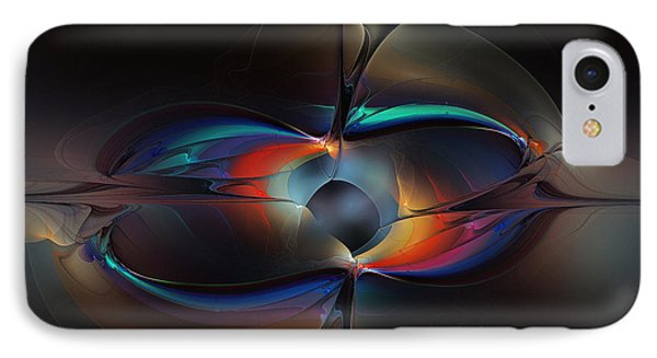 Open Minded-abstract Art IPhone Case by Karin Kuhlmann