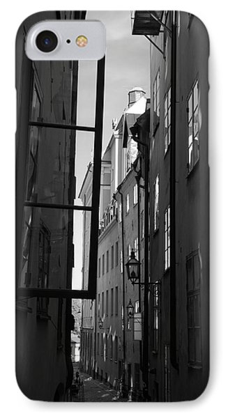 Open Window And Graffitis - Monochrome IPhone Case