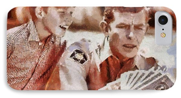 Opie And Andy IPhone Case by Paulette B Wright