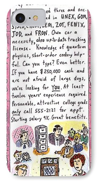 Opp'y Of A Lifetime IPhone Case by Roz Chast