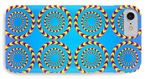 Optical Illusion Spinning Wheels IPhone Case by Sumit Mehndiratta