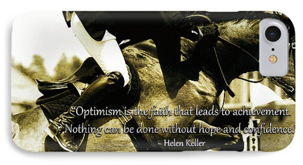Optimism With Hope And Confidence IPhone Case