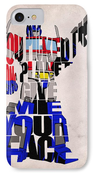 Optimus Prime Phone Case by Ayse and Deniz