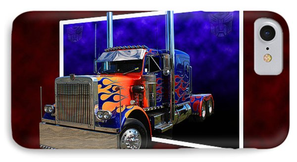 IPhone Case featuring the photograph Optimus Prime Peterbilt by Keith Hawley
