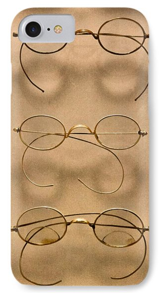 Optometrist - Simple Gold Frames Phone Case by Mike Savad