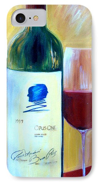 IPhone Case featuring the painting Opus One  by Sheri  Chakamian