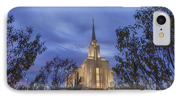 Oquirrh Mountain Temple II IPhone Case by Chad Dutson