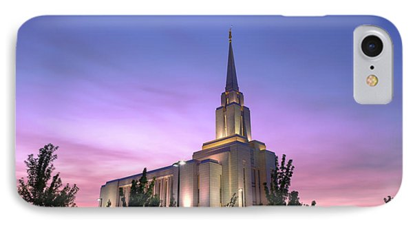Oquirrh Mountain Temple Iv IPhone Case by Chad Dutson