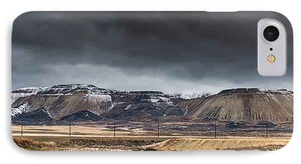 Oquirrh Mountains Winter Storm Panorama 2 - Utah IPhone Case