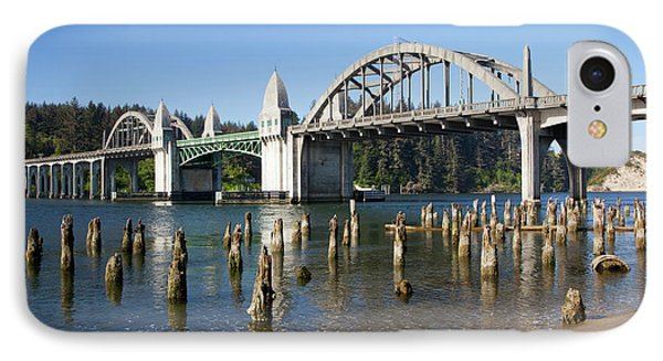 Or, Florence, Siuslaw River Bridge IPhone Case by Jamie and Judy Wild