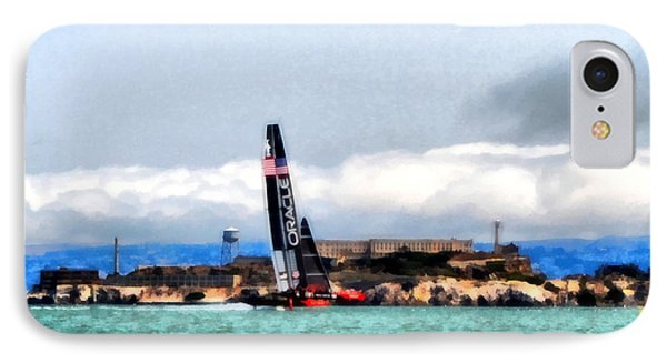 Oracle Team Usa And Alcatraz IPhone Case by Michelle Calkins