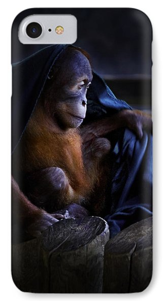 Orang Utan Youngster With Blanket IPhone Case by Peter v Quenter