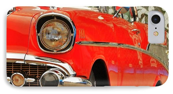 IPhone Case featuring the photograph Orange 57' Chevy by Al Fritz