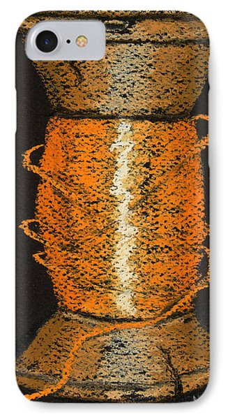 IPhone Case featuring the drawing Orange 6 by Joseph Hawkins