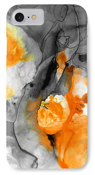 Orange Abstract Art - Iced Tangerine - By Sharon Cummings IPhone Case by Sharon Cummings