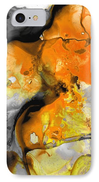 Orange Abstract Art - Light Walk - By Sharon Cummings IPhone Case
