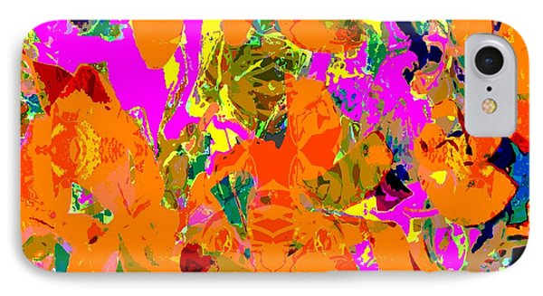 IPhone Case featuring the digital art Orange Abstract by Barbara Moignard