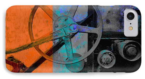 Orange And Blue  IPhone Case by Ann Powell