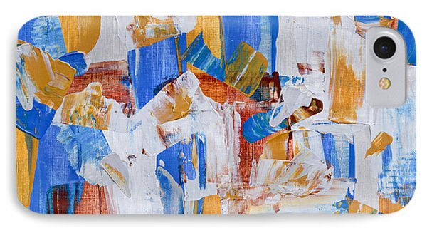 IPhone Case featuring the painting Orange And Blue by Heidi Smith