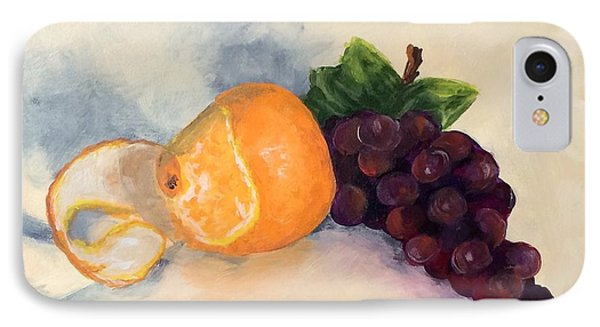 Orange And Grapes IPhone Case by Torrie Smiley
