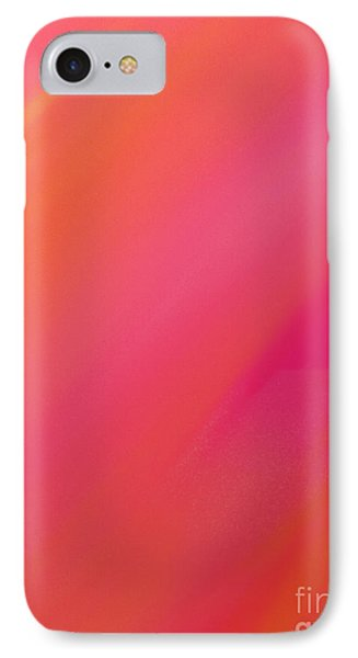 Orange And Raspberry Sorbet Abstract 1 Phone Case by Andee Design