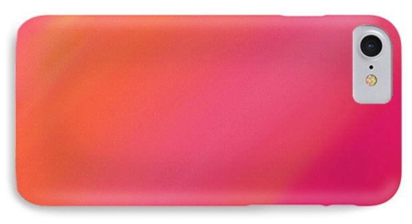 Orange And Raspberry Sorbet Abstract 2 Phone Case by Andee Design