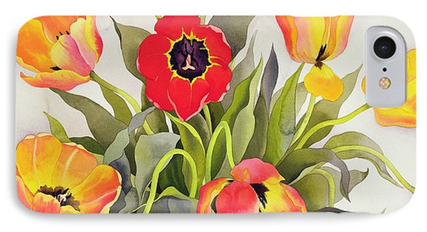 Orange And Red Tulips  Phone Case by Christopher Ryland