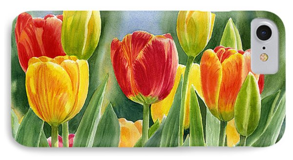 Orange And Yellow Tulips With Background IPhone Case