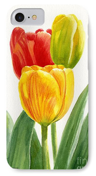 Orange And Yellow Tulips With Bud IPhone Case by Sharon Freeman