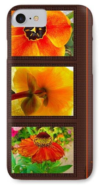 Orange Bloom Motif IPhone Case